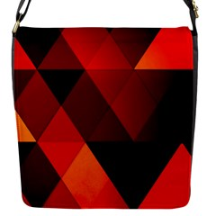 Abstract Triangle Wallpaper Flap Messenger Bag (s)