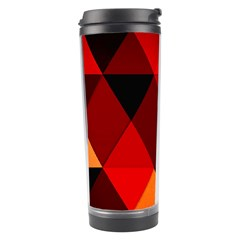 Abstract Triangle Wallpaper Travel Tumbler