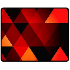 Abstract Triangle Wallpaper Double Sided Fleece Blanket (medium)  by BangZart