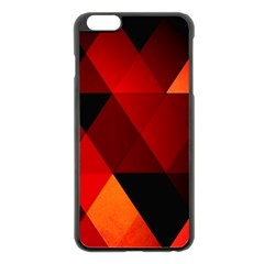 Abstract Triangle Wallpaper Apple Iphone 6 Plus/6s Plus Black Enamel Case by BangZart