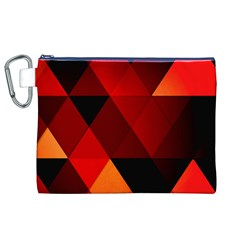 Abstract Triangle Wallpaper Canvas Cosmetic Bag (xl) by BangZart