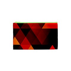 Abstract Triangle Wallpaper Cosmetic Bag (xs)