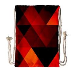 Abstract Triangle Wallpaper Drawstring Bag (large)
