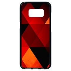 Abstract Triangle Wallpaper Samsung Galaxy S8 Black Seamless Case by BangZart