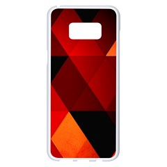 Abstract Triangle Wallpaper Samsung Galaxy S8 Plus White Seamless Case