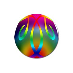 Colorful Easter Egg Magnet 3  (round)