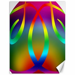 Colorful Easter Egg Canvas 12  X 16