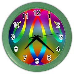 Colorful Easter Egg Color Wall Clocks