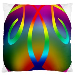 Colorful Easter Egg Large Cushion Case (one Side) by BangZart