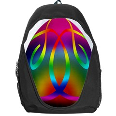 Colorful Easter Egg Backpack Bag by BangZart