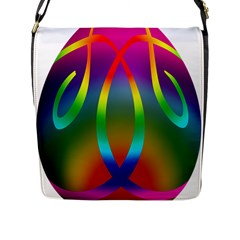 Colorful Easter Egg Flap Messenger Bag (l)  by BangZart