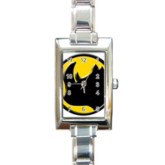 Black Rhino Logo Rectangle Italian Charm Watch by BangZart