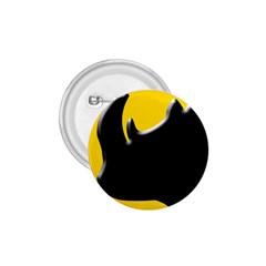Black Rhino Logo 1 75  Buttons by BangZart