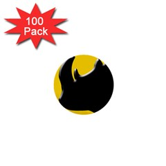 Black Rhino Logo 1  Mini Buttons (100 Pack)