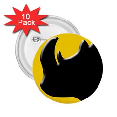 Black Rhino Logo 2 25  Buttons (10 Pack)  by BangZart