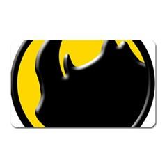 Black Rhino Logo Magnet (rectangular)
