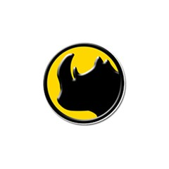 Black Rhino Logo Golf Ball Marker (10 Pack) by BangZart