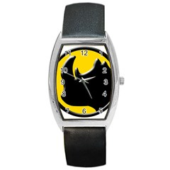 Black Rhino Logo Barrel Style Metal Watch by BangZart