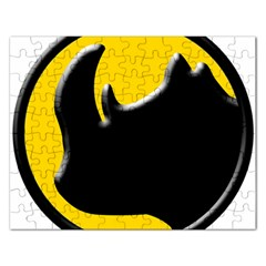 Black Rhino Logo Rectangular Jigsaw Puzzl by BangZart
