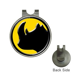 Black Rhino Logo Hat Clips With Golf Markers