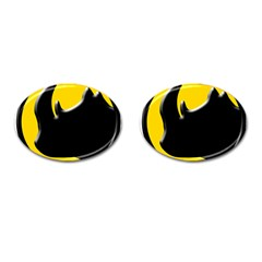 Black Rhino Logo Cufflinks (oval)