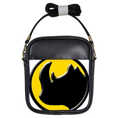 Black Rhino Logo Girls Sling Bags by BangZart