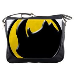 Black Rhino Logo Messenger Bags