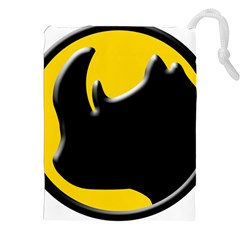 Black Rhino Logo Drawstring Pouches (xxl) by BangZart