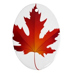 Autumn Maple Leaf Clip Art Ornament (oval) by BangZart