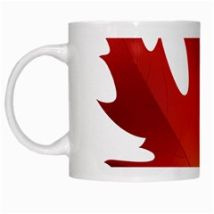 Autumn Maple Leaf Clip Art White Mugs by BangZart