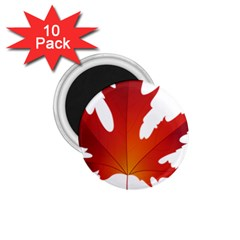 Autumn Maple Leaf Clip Art 1 75  Magnets (10 Pack)  by BangZart
