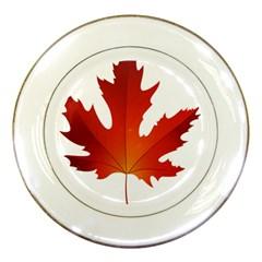 Autumn Maple Leaf Clip Art Porcelain Plates