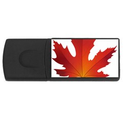 Autumn Maple Leaf Clip Art Rectangular Usb Flash Drive by BangZart