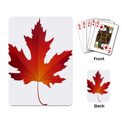 Autumn Maple Leaf Clip Art Playing Card by BangZart