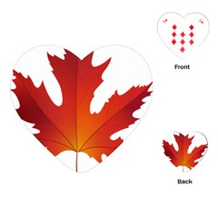 Autumn Maple Leaf Clip Art Playing Cards (heart)  by BangZart