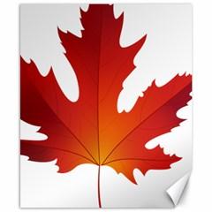Autumn Maple Leaf Clip Art Canvas 8  X 10