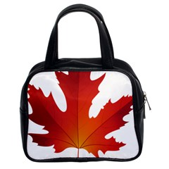 Autumn Maple Leaf Clip Art Classic Handbags (2 Sides)