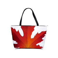 Autumn Maple Leaf Clip Art Shoulder Handbags by BangZart