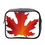 Autumn Maple Leaf Clip Art Mini Toiletries Bag 2-Side Front
