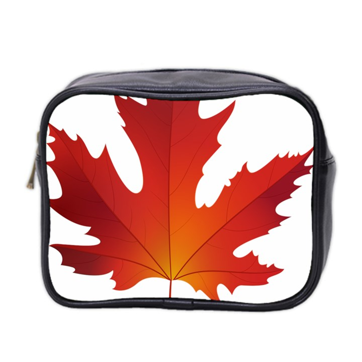 Autumn Maple Leaf Clip Art Mini Toiletries Bag 2-Side