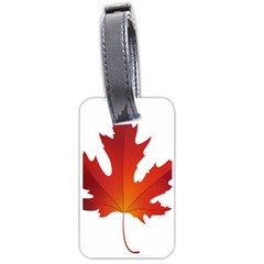 Autumn Maple Leaf Clip Art Luggage Tags (one Side)