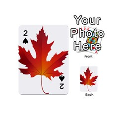 Autumn Maple Leaf Clip Art Playing Cards 54 (mini)