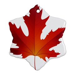 Autumn Maple Leaf Clip Art Ornament (snowflake) by BangZart