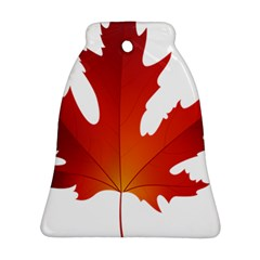 Autumn Maple Leaf Clip Art Ornament (bell) by BangZart
