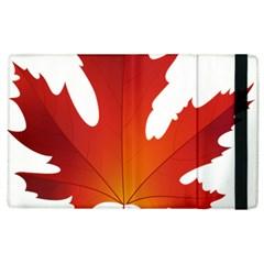 Autumn Maple Leaf Clip Art Apple Ipad 2 Flip Case by BangZart
