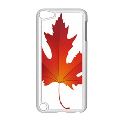 Autumn Maple Leaf Clip Art Apple Ipod Touch 5 Case (white) by BangZart
