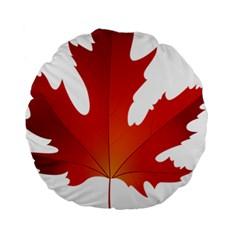 Autumn Maple Leaf Clip Art Standard 15  Premium Round Cushions