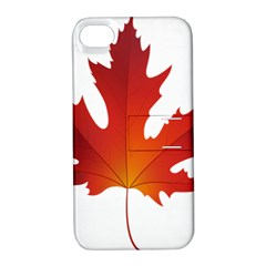 Autumn Maple Leaf Clip Art Apple Iphone 4/4s Hardshell Case With Stand by BangZart