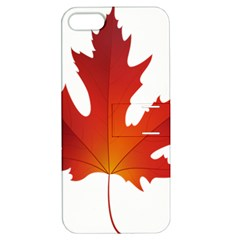 Autumn Maple Leaf Clip Art Apple Iphone 5 Hardshell Case With Stand