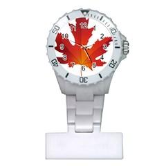 Autumn Maple Leaf Clip Art Plastic Nurses Watch